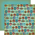 Carta Bella Paper - Space Academy Collection - 12 x 12 Double Sided Paper - Space Badges