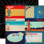 Carta Bella Paper - Space Academy Collection - 12 x 12 Double Sided Paper - 4 x 6 Journaling Cards