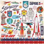 Carta Bella Paper - Space Academy Collection - 12 x 12 Cardstock Stickers