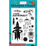 Carta Bella Paper - Space Academy Collection - Clear Acrylic Stamps - Junior Astronaut