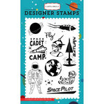 Carta Bella Paper - Space Academy Collection - Clear Acrylic Stamps - Space Pilot