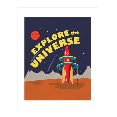 Carta Bella Paper - Space Academy Collection - Art Print - 11 x 14 - Explore the Universe