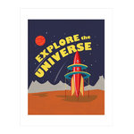 Carta Bella Paper - Space Academy Collection - Art Print - 11 x 14 - Explore the Universe