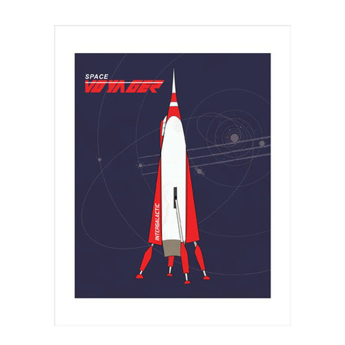 Carta Bella Paper - Space Academy Collection - Art Print - 11 x 14 - Space Voyager