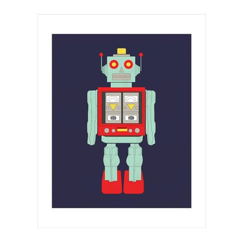 Carta Bella Paper - Space Academy Collection - Art Print - 11 x 14 - Robot