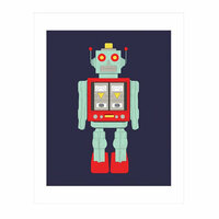 Carta Bella Paper - Space Academy Collection - Art Print - 11 x 14 - Robot