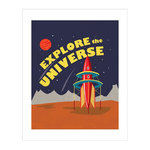 Carta Bella Paper - Space Academy Collection - Art Print - 8 x 10 - Explore the Universe