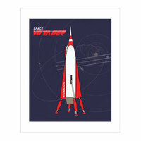 Carta Bella Paper - Space Academy Collection - Art Print - 8 x 10 - Space Voyager