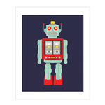 Carta Bella Paper - Space Academy Collection - Art Print - 8 x 10 - Robot