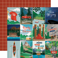 Carta Bella Paper - Summer Camp Collection - 12 x 12 Double Sided Paper - 3 x 4 Journaling Cards