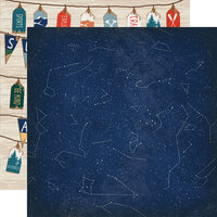 Carta Bella Paper - Summer Camp Collection - 12 x 12 Double Sided Paper - Night Sky