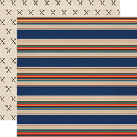 Carta Bella Paper - Summer Camp Collection - 12 x 12 Double Sided Paper - Summer Stripe