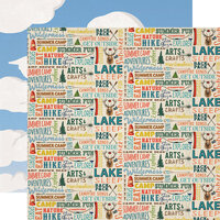 Carta Bella Paper - Summer Camp Collection - 12 x 12 Double Sided Paper - Summer Camp Words