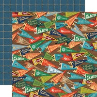 Carta Bella Paper - Summer Camp Collection - 12 x 12 Double Sided Paper - Camp Pennants