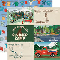 Carta Bella Paper - Summer Camp Collection - 12 x 12 Double Sided Paper - 6 x 4 Journaling Cards