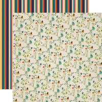 Carta Bella Paper - Summer Camp Collection - 12 x 12 Double Sided Paper - Wildflowers