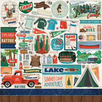 Carta Bella Paper - Summer Camp Collection - 12 x 12 Cardstock Stickers - Elements