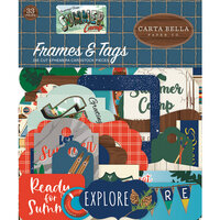 Carta Bella Paper - Summer Camp Collection - Ephemera - Frames and Tags