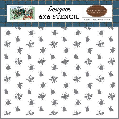 Carta Bella Paper - Summer Camp Collection - 6 x 6 Stencil - Nature Bugs