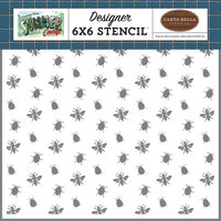 Carta Bella Paper - Summer Camp Collection - 6 x 6 Stencil - Nature Bugs