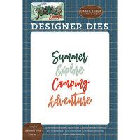 Carta Bella Paper - Summer Camp Collection - Designer Dies - Camping Adventure Word