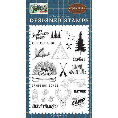 Carta Bella Paper - Summer Camp Collection - Clear Photopolymer Stamps - Let Summer Begin