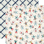 Carta Bella Paper - Snow Fun Collection - 12 x 12 Double Sided Paper - Snow Angels