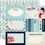 Carta Bella Paper - Snow Fun Collection - 12 x 12 Double Sided Paper - 4 x 6 Journaling Cards
