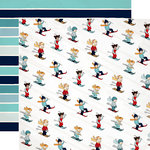 Carta Bella Paper - Snow Fun Collection - 12 x 12 Double Sided Paper - Ski With Me