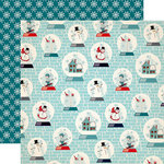 Carta Bella Paper - Snow Fun Collection - 12 x 12 Double Sided Paper - Snow Globes