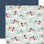 Carta Bella Paper - Snow Fun Collection - 12 x 12 Double Sided Paper - Sweet Snowmen