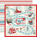 Carta Bella Paper - Snow Fun Collection - 12 x 12 Double Sided Paper - Snow Game