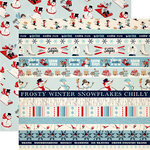 Carta Bella Paper - Snow Fun Collection - 12 x 12 Double Sided Paper - Border Strips