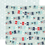Carta Bella Paper - Snow Fun Collection - 12 x 12 Double Sided Paper - Winter Banners