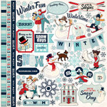 Carta Bella Paper - Snow Fun Collection - 12 x 12 Cardstock Stickers - Elements