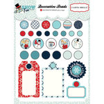 Carta Bella Paper - Snow Fun Collection - Decorative Brads