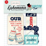 Carta Bella Paper - Snow Fun Collection - Ephemera - Frames and Tags