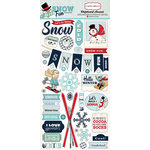 Carta Bella Paper - Snow Fun Collection - Chipboard Stickers