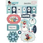 Carta Bella Paper - Snow Fun Collection - Layered Stickers