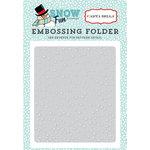 Carta Bella Paper - Snow Fun Collection - Embossing Folder - Falling Snow
