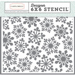 Carta Bella Paper - Snow Fun Collection - 6 x 6 Stencil - Pointed Snowflake
