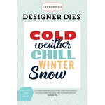 Carta Bella Paper - Snow Fun Collection - Designer Dies - Winter Weather Word