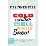 Carta Bella Paper - Snow Fun Collection - Designer Dies - Winter Weather Word