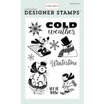 Carta Bella Paper - Snow Fun Collection - Clear Acrylic Stamps - Wintertime