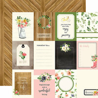 Carta Bella Paper - Spring Market Collection - 12 x 12 Double Sided Paper - 3 x 4 Journaling Cards