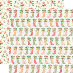 Carta Bella Paper - Spring Market Collection - 12 x 12 Double Sided Paper - Rainboots