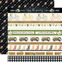 Carta Bella Paper - Spring Market Collection - 12 x 12 Double Sided Paper - Border Strips