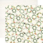 Carta Bella Paper - Spring Market Collection - 12 x 12 Double Sided Paper - Wreath Decor