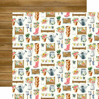 Carta Bella Paper - Spring Market Collection - 12 x 12 Double Sided Paper - Market Planters