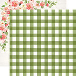 Carta Bella Paper - Spring Market Collection - 12 x 12 Double Sided Paper - Garden Gingham